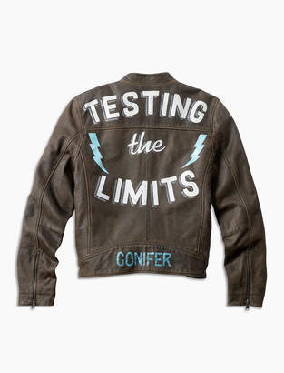 Lucky Brand Ornamental Conifer Limits Leather Jacket