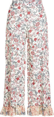 See by Chloe Printed Pants with Silk