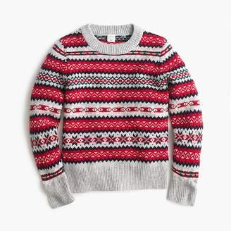 J.Crew Boys' Fair Isle crewneck sweater