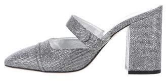 ALEXACHUNG Metallic High-Heel Mules