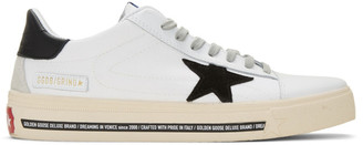 Golden Goose White Canvas Black Star Sneakers