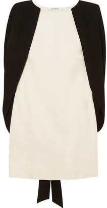 Givenchy Two-tone Cape-effect Crepe Mini Dress - White