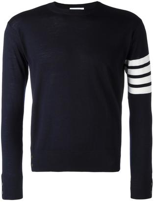 Thom Browne striped sleeve jumper $982.17 thestylecure.com