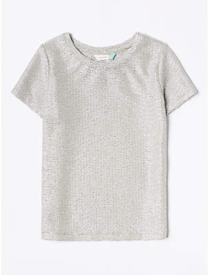 John Lewis & Partners Girls' Metallic T-Shirt