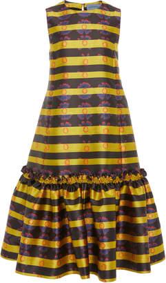 Jonathan Cohen Ikram Ruffle-Hem Silk Dress