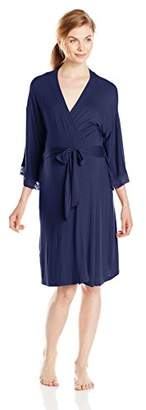 Belabumbum Women's Maternity Belly Boudoir and Beyond Lace Trimmed and Nursing Robe