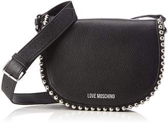Love Moschino Borsa Vitello Pebble Nero, Women's Baguette,6x16x22 cm (B x H T)