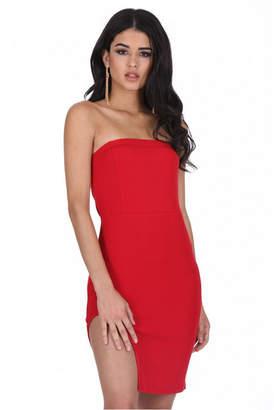 AX Paris Bandeau Thigh Split Dress