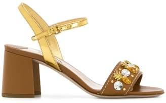 Miu Miu embellished strap sandals