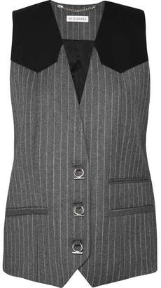 Altuzarra Walace Pinstriped Wool-blend Vest - Gray