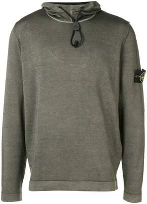 Stone Island hooded long-sleeve sweater