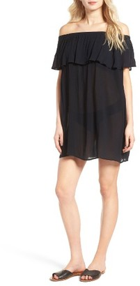 Women's Hinge Off The Shoulder Cover-Up Dress $39 thestylecure.com