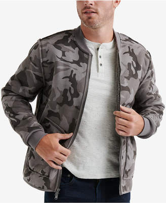 Lucky Brand Men's Reversible Camouflage Faux-Shearling Bomber Jacket