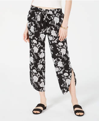 American Rag Juniors' Floral-Print Cropped Pants