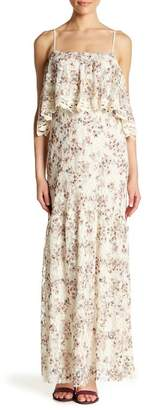 Love Stitch Printed Lace Maxi Dress