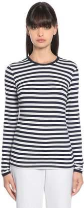Max Mara Striped Jersey Long Sleeve T-Shirt