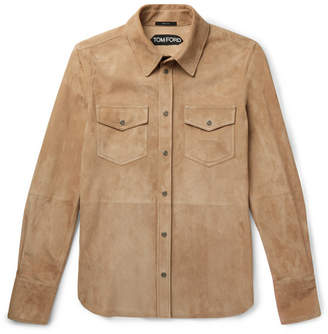 Tom Ford Suede Shirt Jacket - Tan