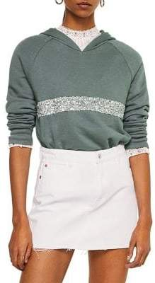 MANGO Sequin Embroidered Sweatshirt