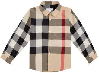 Burberry Check Double Pocket Shirt