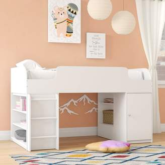 LOFT Mack & Milo Amak Twin Panel Bed with Trundle and Drawers and Toy Box and Bookcase