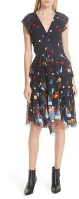 Joie Kiersten Print Silk Dress