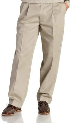 Izod Men's Big and Tall Pleated Extended Twill Pant