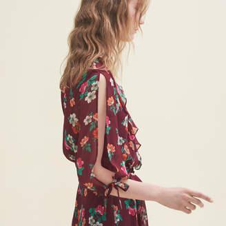 Maje Printed chiffon dress