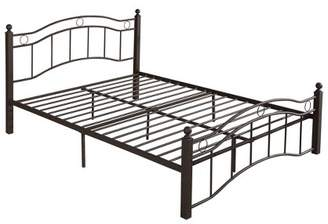 Christopher Knight Home Bouvardia Iron Bed Frame Queen Hammered Copper
