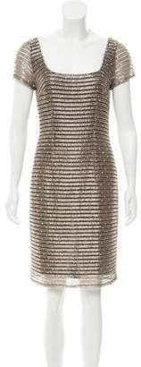 Naeem Khan Short Sleeve Embellished Dress
