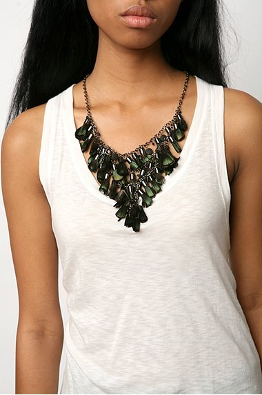 UO Feather Tassel Necklace