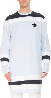 Givenchy Contrast-Detail Long-Sleeve Baseball T-Shirt