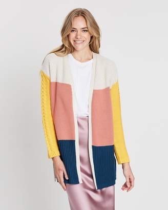 All About Eve Link Panelled Knit Cardigan