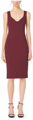 Michael Kors Boucle-Crepe Sweetheart Sheath Dress