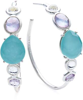 Ippolita Rock Candy Mixed Stone Bezel Hoop Earrings