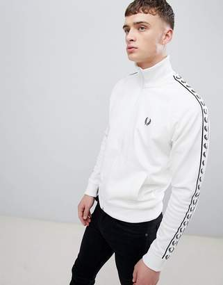 Fred Perry Sports Authentic Taped Track Jacket in White