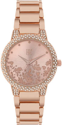 INC International Concepts I.N.C. Women's Rose Gold-Tone Bracelet Watch 34mm, Created for Macy's