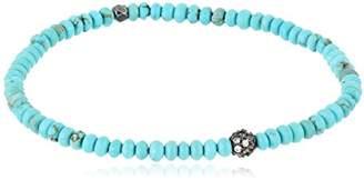 Tai Silver Mini Ball Turquoise Stretch Bracelet