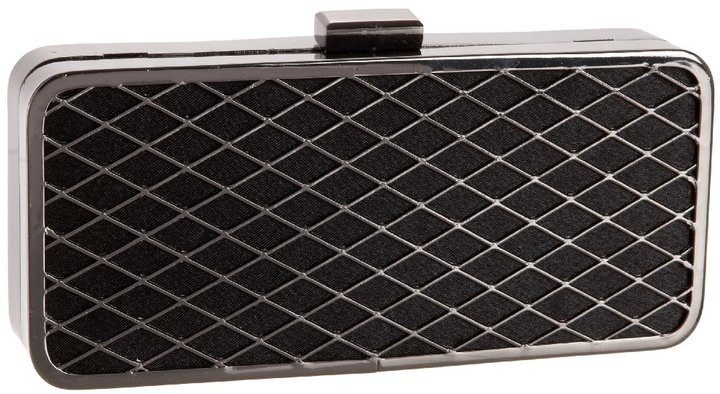 Magid Diamond Weave Metal Box Clutch