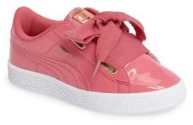 Girl's Puma Basket Heart Sneaker $60 thestylecure.com