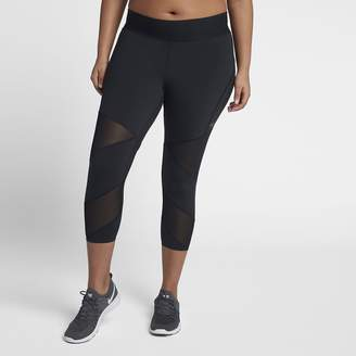 Nike Power Women's Mid-Rise Training Capris(Plus Size)