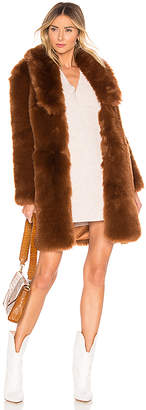 The Jetset Diaries Winter Time Love Faux Fur Coat