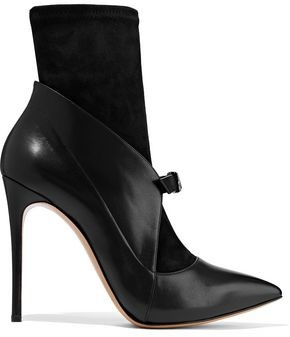 Casadei Vittoriale Suede And Leather Ankle Boots