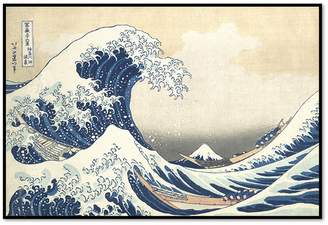 The Great Museums. Co Wave off Kanagawa by Katsushika Hokusai (Framed)