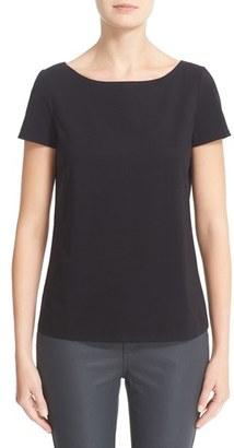Women's Lafayette 148 New York Short Sleeve Jersey Tee $148 thestylecure.com