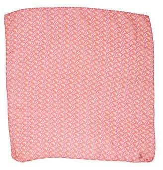 Christian Dior Logo Silk Scarf