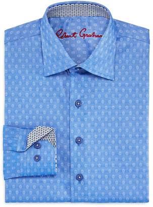 Robert Graham Boys' Gene Motif Dress Shirt - Big Kid $79.50 thestylecure.com