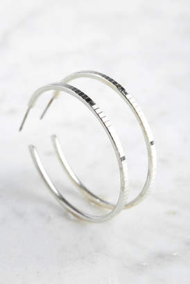 A.V. Max Disco Ball Etched Hoop Earrings