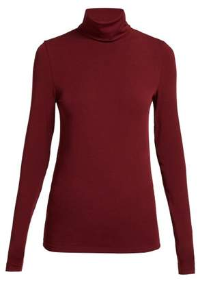 Wolford Roll Neck Top - Womens - Burgundy
