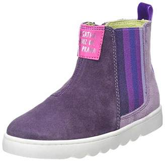 Agatha Ruiz De La Prada Girls' 181952 Ankle Boots, Purple y Morado/Lila, 12UK Child