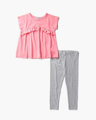 Little Girl Flounce Top Set
